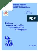 Etude sur les organisations non gouvernementales à Madagascar - 2008 (INSTAT - 2008)