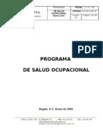 Programa Salud Ocupacional 2009 Con Anexos PG001 V4