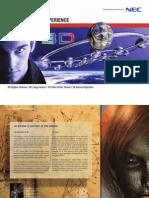 NEC Brochure 3D Projectoren