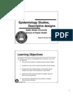 EPIDEMIOLOGICAL STUDIES, Descriptive 2011 Colour Less 2 Slide Per Page Non-coloured