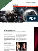 NEC Brochure Digital Cinema
