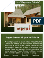 Kingswood Oriental Jaypee Villas Noida 9811 822 426 Residential Projects in Noida