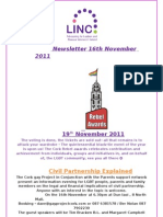 Newsletter 16th November 2011