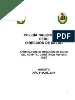 APRECIACIÓN DE SITUACIÓN DEL HGPNP AGOSTO 2011