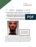Egyptomania Grips Christie's New York
