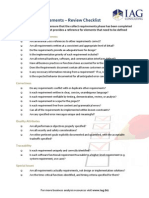 Collect Requirements Review Checklist