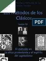 El método en La ética protestante y el espíritu del capitalismo (M. Weber)