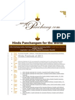 Hindu Panchangam for the World