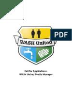 WASH United Media Manager Job Description