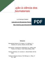 Introducao a Biomateriais Aula 1