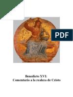 13. Comentario a La Realeza de Cristo - Benedicto XVI