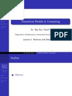 Matrices Determinants Slides