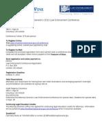 Law Enforcement 2011 Registration Program