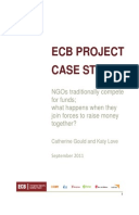 ECB Project Case Study: NGOs traditionally compete for funds; what happens when they join forces to raise money together?