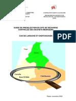 Guide de Pre Selection de Site de Decharge Controlee Des Dechets Menagers