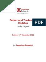 Sagacious Research - Patent & Trademark Updates – 17th November, 2011