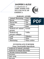 Ifanca Halal Shoppers Guide