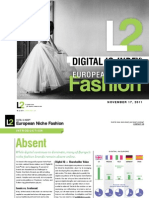 European Niche Fashion DigitalIQ 2011