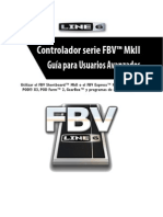 FBV MkII Series Controller Advanced User Guide (Rev B) - Spanish