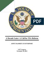 TSA Reform Report 11/16/11