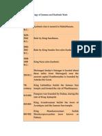 Historical Chronology of Jammu and Kashmir State