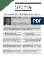 International Stem Cell - TWST