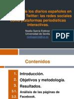 Presencia de los diarios españoles en Facebook y