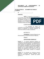 REGLAMENTO DE ALMACENAMIENTO DE SUSTANCIAS QUÍMICAS PELIGROSAS