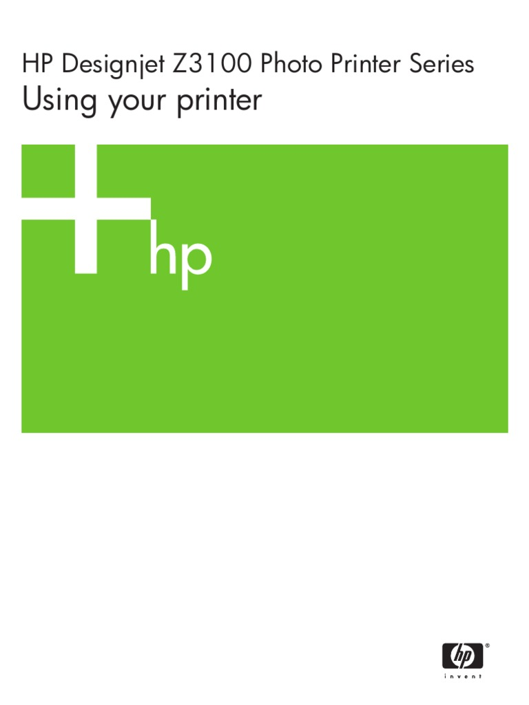 Hp Designjet Z3100 Using Your Printer Computing 81 Yellow Dye Printhead And Cleaner Original Computer Network