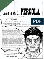 Storie Partigiane (inserto di Progetto Pergola