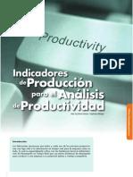 Indicadores de Produccion Para El Analisis de Productividad 09.3