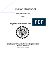 RTI Information Handbook of EPF