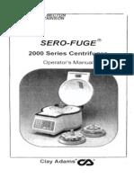 Serofuge 2000 User Manual