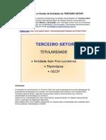 Capacitação na Gestão de Entidades do TERCEIRO SETOR
