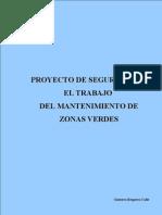 Proyecto de Seguridad en El Trabajo Del Mantenimiento de Zonas Verdes