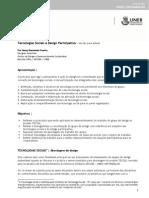 Tecnologias Sociais e Design ParticipativoV-Estudo