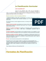 Formatos de Planificación Curricular