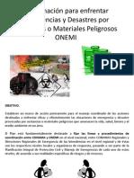 Coordinación para enfrentar Emergencias y Desastres por Sustancias