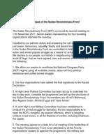 Communiqué of the Sudan Revolutionary Front