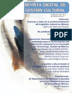"""Revista Digital de Gestión Cultural # 2 """"La profesionalización de la gestión cultural"""""""