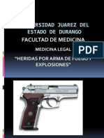 Lesiones Por Arma de Fuego y Explosivos