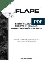declaración flape derecho a la educación