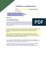 RESUMEN_Ley Del Medio Ambiente y Sus Reglamentos