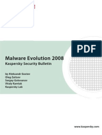 Malware Evolution 2008