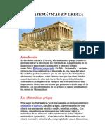 LAS MATEMÁTICAS EN GRECIA