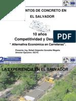 Rafael Gonzales-Experiencia en El SAlvador