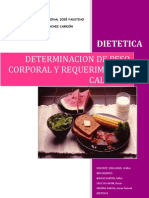 Determinacion de Peso Corporal y Requerimiento Calorico