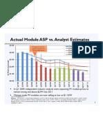 DOE Chart of Solar Analyst Estimates