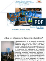 Qué  es el proyecto Canaima educativo 4to B power point 2003