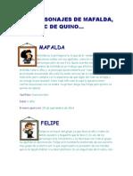 Recordando a Mafalda los personajes